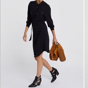 Rebecca Minkoff Callie Shirt Dress Black M medium